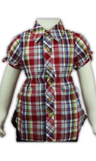 ST-BSC802 Contrast color checkered kids shirts, Garment factories, Kids short sleeve shirts
