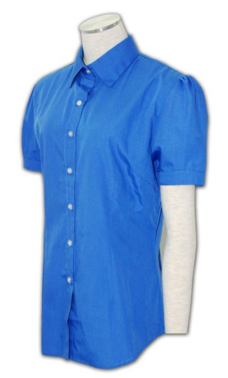 WDX-ST-05 Women's a short-sleeved blouse, Tailored Office  a short-sleeved blouse